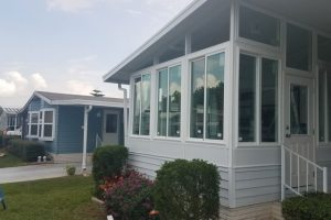 Sunroom replacement windows installation