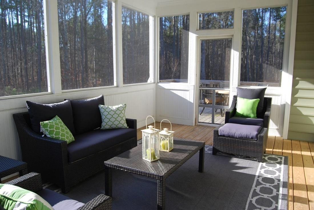 the style of the sunroom
