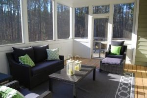 Modern Sunroom Additions-living room