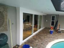 poolside sliding door from outside
